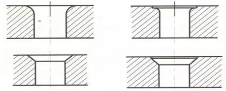 Edge structure of hole