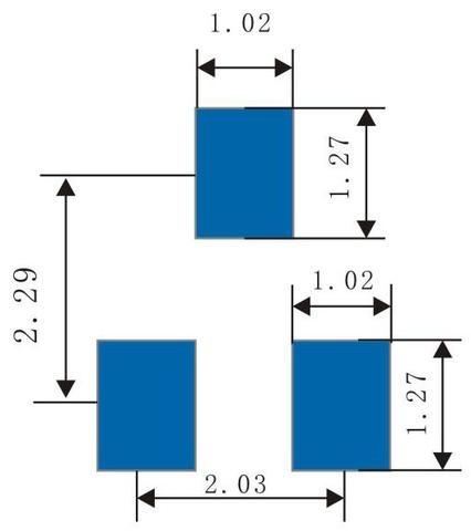 Sketch of SOT23 Bonding Pad (mm)