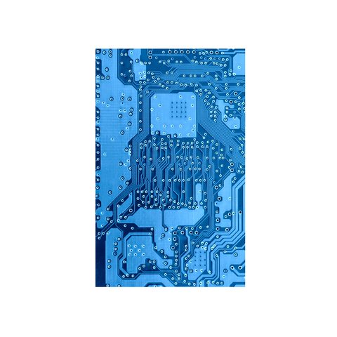 printed circuit board blue