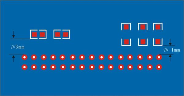 One side SMD components placement