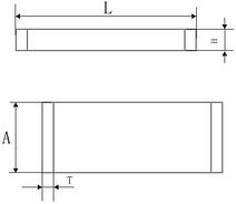 Schematic Diagram of Rectangle Component Shape and Bonding Pad Graphic