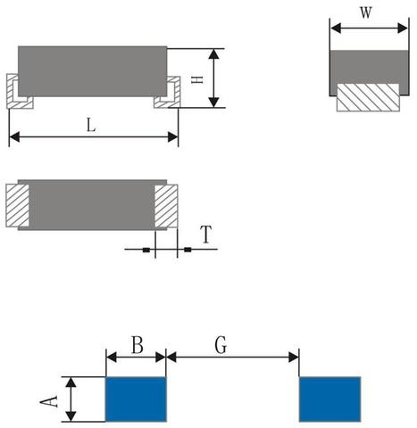 Shapes of Tantalum Capacitor and Bonding Pad