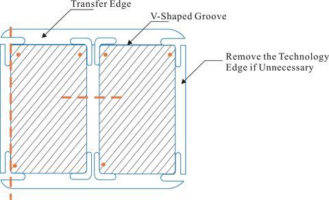 Slotted hole separating method