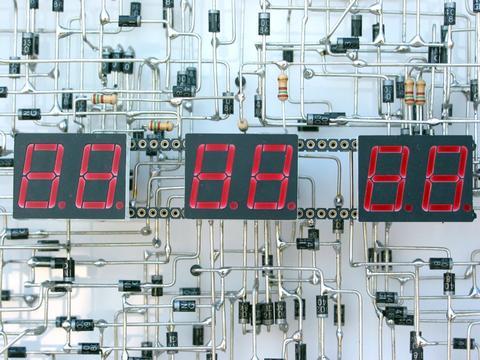 handmade electronic clock