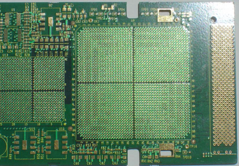 A PCB With Electroplated Gold Over Electroplated Nickel