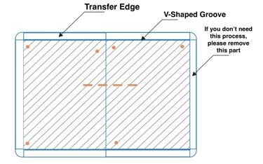 V-shaped groove separating method
