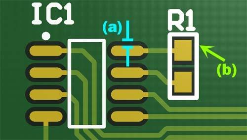 soldermask and silkscreen - printed circuit board concepts PCB