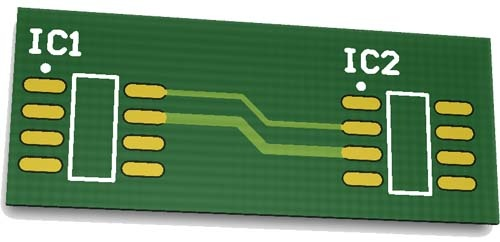 tracks - printed circuit board concepts PCB