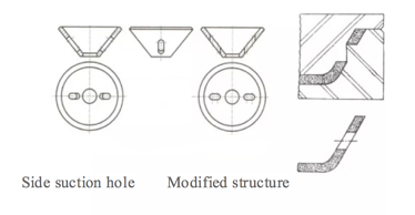 Inclined hole