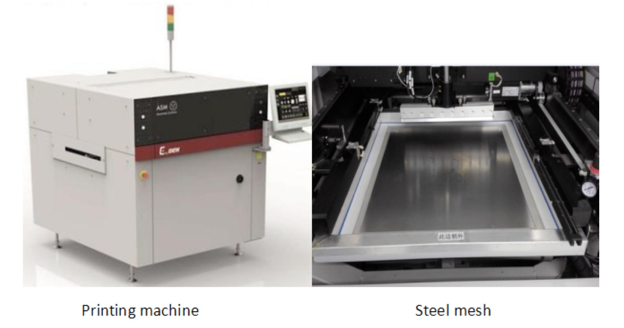 Printing machine and steel mesh