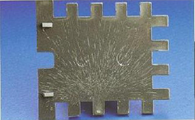 Silver Mark on grey plastic