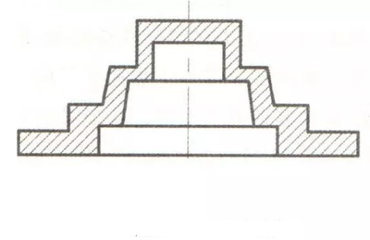 Step hole structure