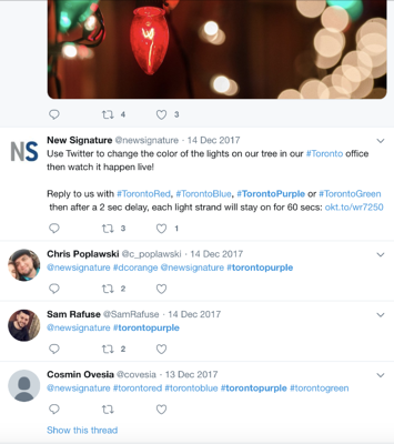 Christmas Lights with Twitter Control