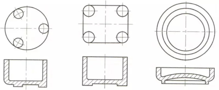 the supporting design of plastic product 2