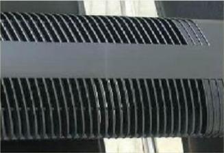 weld line on black plastic