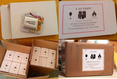 Lithium ion battery operation label