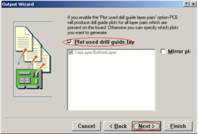 plot used drill guide lay